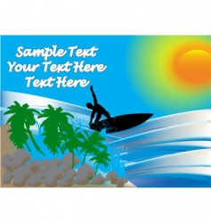 surfer on sea vector image
