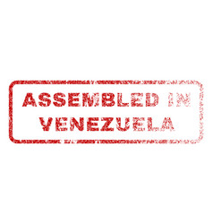 assembled in venezuela rubber stamp vector image