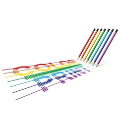 Color print pencil vector image