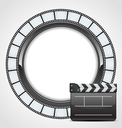 film clap background vector image vector image