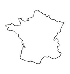 france map isolated icon vector image vector image