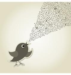 Musical bird vector image vector image