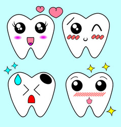 cartoon tooth braces vector image