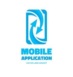 Mobile phone - logo concept vector
