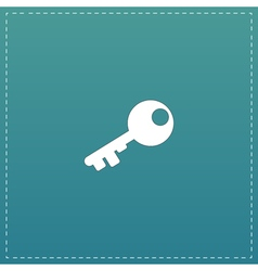 Old key silhouette isolated vector image vector image