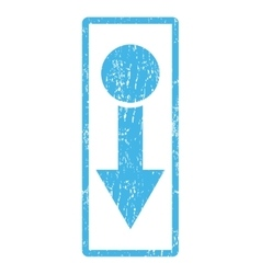 Pull down icon rubber stamp vector
