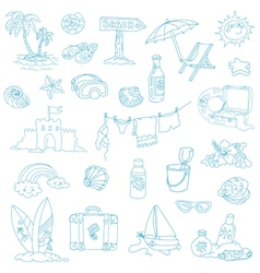 Seaside and Summer - design elements vector image vector image