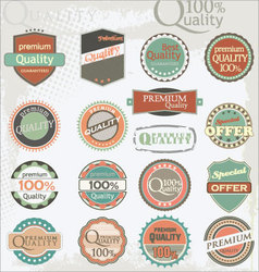 Set of vintage retro premium quality labels vector image vector image
