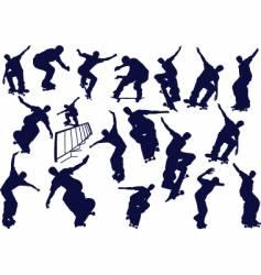 skateboard boys vector image