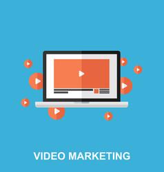 video marketing flat design concept vector image