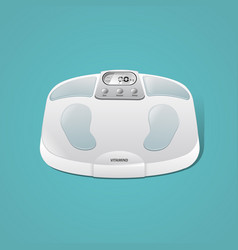 3d body weight scales vector image