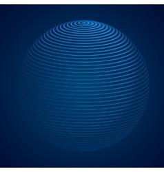abstract 3d sphere with stripes lines vector image