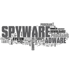 Adware spyware download text word cloud concept vector