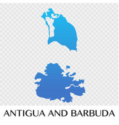 antigua and barbuda map in north america vector image