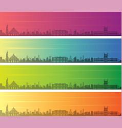 asuncion multiple color gradient skyline banner vector image