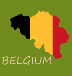 Belgium map with shadow effect vector