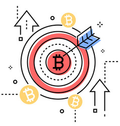 bitcoin - colorful line design style conceptual vector image