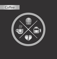 Black and white style icon coffee logo vector