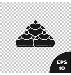 Black jewish sweet bakery icon isolated on vector