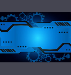 blue technology gear abstract background vector image