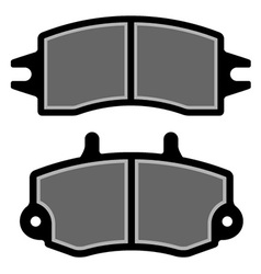 brake pad black silhouettes vector image