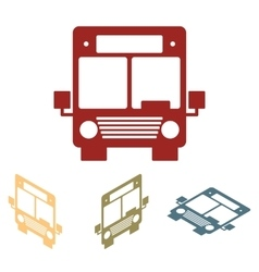Bus icons isometric set vector image