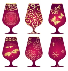 Christmas glasses vector image