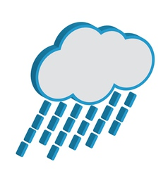 Cloud with raindrops weather forecast icon EPS10 vector image