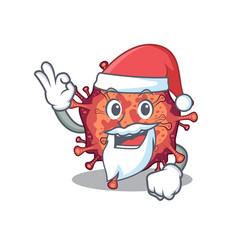 Contagious corona virus in santa cartoon vector