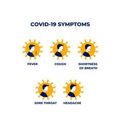 Coronavirus 2019-ncov symptoms vector