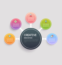 creative and marketing concept infographic vector image