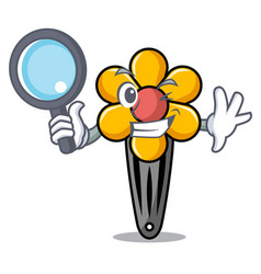 Detective hair clip character cartoon vector