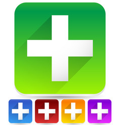 different colored square icons with white cross vector image