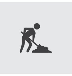 Digging man icon vector image