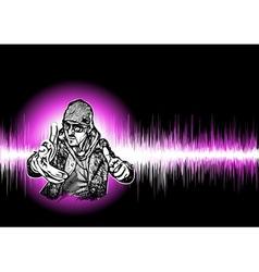 dj black background vector image