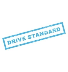 Drive Standard Rubber Stamp vector image
