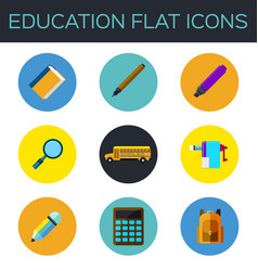 Education flat icon vector