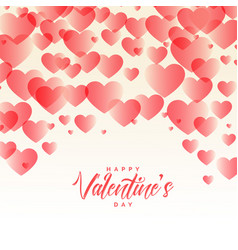 elegant hearts pattern beautiful valentines day vector image