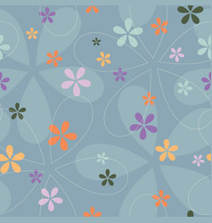 elegant swirl seamless pattern vector image
