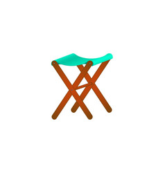 folding wooden chair in retro design vector image