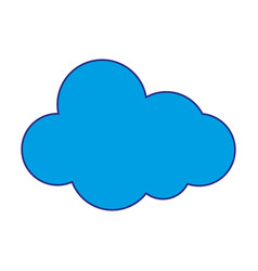 full color natural cloud in sky to weather design vector image