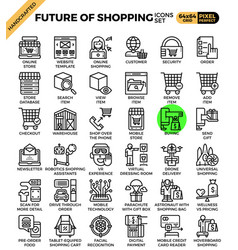 Future of shopping concept icons vector