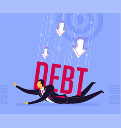 getting pressed debt vector image
