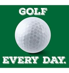 Golf ball on green poster vector