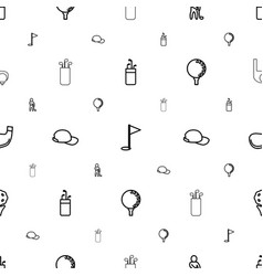 golf icons pattern seamless white background vector image