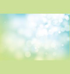Hello spring green bokeh blur abstract background vector