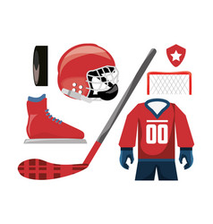 Hockey on ice sport game to competition vector