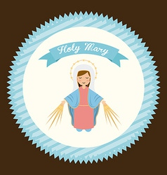 holy mary vector image