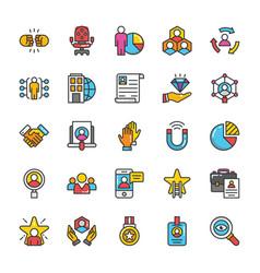 human resource icons set 5 vector image