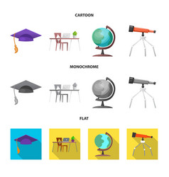 Isolated object of education and learning symbol vector